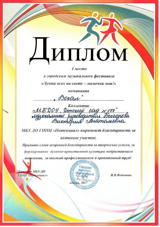 Бессонова Виктория Анатольевна