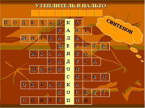 Ткань Для Пальто И Костюмов Кроссворд Ответ