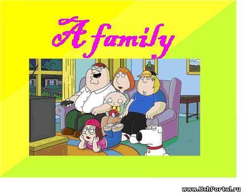 презентация по английскому языку 2 класс семья