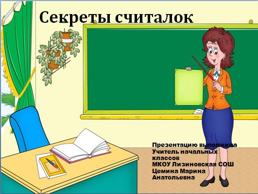 Автор цемина марина анатольевна