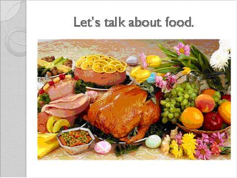 Презентацию на тему продукты питания
