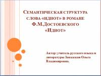 Роман Достоевского Идиот