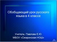 """Презентация """"Интерактивная дидактическая игра по русскому языку"""""""