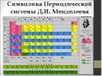 """Презентация к уроку химии """"Периодическая система химических элементов Д.И. Менделеева и строение атома"""""""