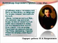 Презентация. А.С. Пушкин.