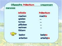 Презентация к уроку немецкого языка Präteritum