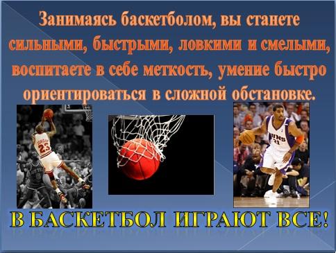 Баскетбол презентация
