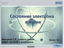 Состояние электрона в атоме