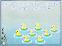 Интерактивная игра для дошкольников Сосчитай утят