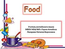 "Презентация к уроку ""Food. Еда"""
