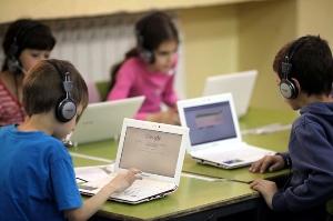 Ученики за ноутбуком
