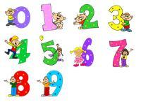 Цифры - смешарики от 1 до 9